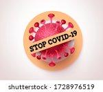 stop covid 19 vector banner... | Shutterstock .eps vector #1728976519
