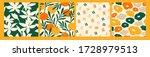 artistic set of seamless... | Shutterstock .eps vector #1728979513