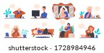 stay at home keep calm. concept ... | Shutterstock .eps vector #1728984946
