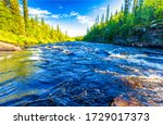 River Rapids At Summer. Creek...