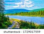 Mountain Valley River Landscap...