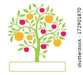 colorful apple tree with text... | Shutterstock .eps vector #172901870