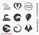 snake icon  animal symbol...   Shutterstock .eps vector #1729029649