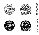 set 100  quality guaranteed... | Shutterstock .eps vector #1729040389