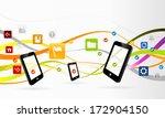 mobile applications concept... | Shutterstock .eps vector #172904150