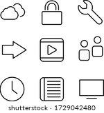 web icon set. thin line icons...