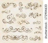 vintage frames and scroll... | Shutterstock .eps vector #172904633