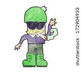 cartoon man smoking pot | Shutterstock .eps vector #172904933