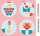 valentine's day | Shutterstock .eps vector #172909646