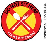 do not sit here table sign to...   Shutterstock .eps vector #1729108156