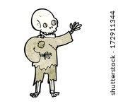 cartoon skeleton waving   Shutterstock .eps vector #172911344