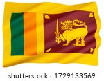 The National Flag Of Sri Lanka...
