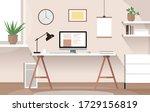 vector flat modern minimalistic ... | Shutterstock .eps vector #1729156819