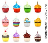 Cupcakes Vector Illustration...