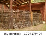 Wicker Fence In A Forest...