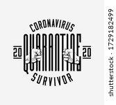 coronavirus 2020 quarantine... | Shutterstock .eps vector #1729182499