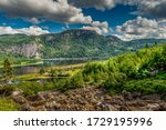 lake somewhere in central Norway - stock photo