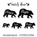 family bear mama bear  papa ... | Shutterstock .eps vector #1729211206