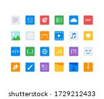 vector file formats icons set ...   Shutterstock .eps vector #1729212433