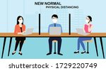new normal concept and physical ... | Shutterstock .eps vector #1729220749