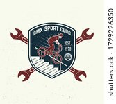 bmx extreme sport club badge  t ... | Shutterstock .eps vector #1729226350