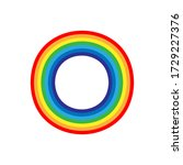 round rainbow icon isolated....