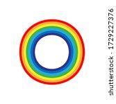 round rainbow icon isolated....