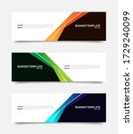 abstract colorful banners... | Shutterstock .eps vector #1729240099