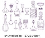 antique crystal decanters and...   Shutterstock .eps vector #172924094