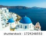 The Blue Dome Churches Of Oia