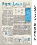 modern newspaper design | Shutterstock .eps vector #172925204