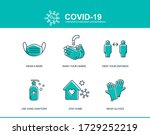 coronavirus covid prevention... | Shutterstock .eps vector #1729252219