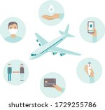 airport safety guidance for... | Shutterstock .eps vector #1729255786