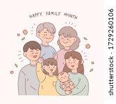 happy family month....   Shutterstock .eps vector #1729260106
