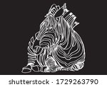 Graphical Zebra Isolated On...
