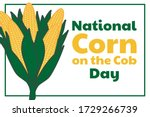 national corn on the cob day....   Shutterstock .eps vector #1729266739