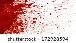 splattered blood stain on white ... | Shutterstock . vector #172928594