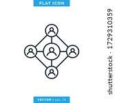social network icon vector... | Shutterstock .eps vector #1729310359