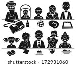 image icons with the family at... | Shutterstock .eps vector #172931060