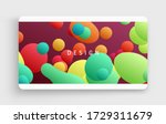 floating liquid blobs. abstract ... | Shutterstock .eps vector #1729311679