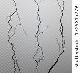 wall cracks on transparent... | Shutterstock .eps vector #1729315279