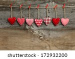 red patterned  valentine's... | Shutterstock . vector #172932200