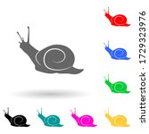 snail multi color style icon....