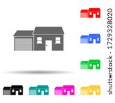 house with garage multi color...