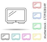 tv multi color style icon....