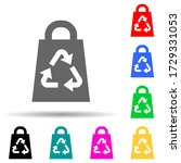 bag recycling green multi color ...