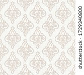 seamless french fleur de lis... | Shutterstock .eps vector #1729340800