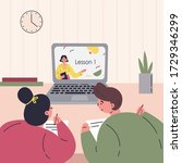 online education.kids learn...   Shutterstock .eps vector #1729346299