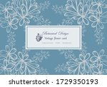 vintage card hand drawn flower... | Shutterstock .eps vector #1729350193