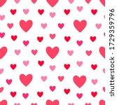 heart seamless pattern. love ... | Shutterstock .eps vector #1729359796